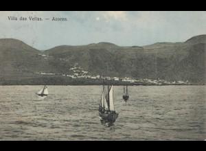 Acores 1910 post card Villa das Vellas to Rochester