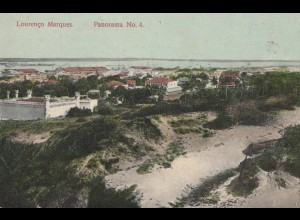 Mocambique 1913 post card Lourenco Marques Panorama No. 4 to Hohensalza