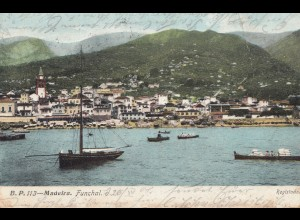 Madeira 1908: post card Funchal to Besem