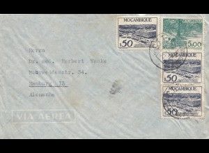 Mocambique 1950: air mail Nampula/Niassa to Hamburg