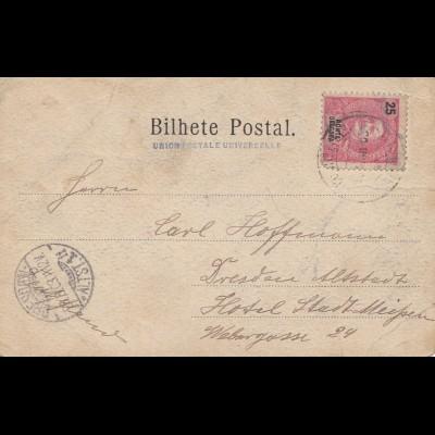 Acores 1903 Ponta Delgada to Dresden