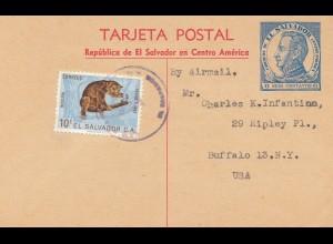 El Salvador postcard to Buffalo USA