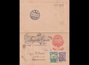 El Salvador 1912: letter to Hannover