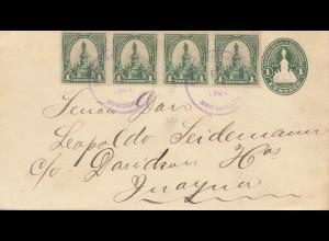 El Salvador 1904: Sonsonate to Juayua, Timbre de Instruction Primaria