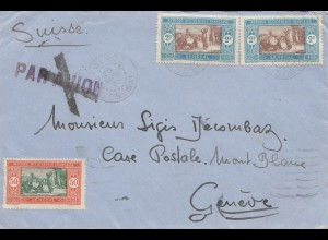 Senegal: 1933: Dakar to Genf/Switzerland