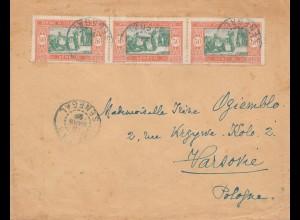 Senegal: 1929 Dakar to Warszawa/Poland