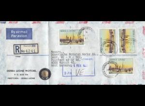 Sierra Leone: 1985: registered Freetown to München - BMW, Schiffe