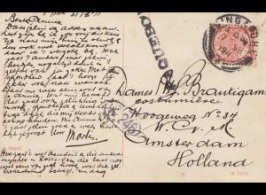 Ned. Indie 1911 post card Soerabaja to Amsterdam