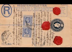 Malaysia: 1922: registered Malacca to Rangoon