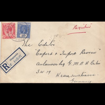 Singapore: 1921: Registered to Berlin