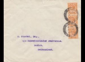 Malaysia: 1939: Penang to Zürich/Switzerland