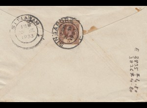 Singapore 1933 letter to Sitiawan