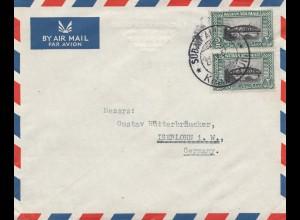 Sudan 1952: air mail Sudan -Kharthoum to Iserlohn