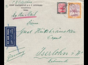Sudan air mail Kharthoum to Iserlohn