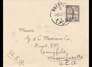 Sudan 1937: Khartoum to Springfiel/Mass.