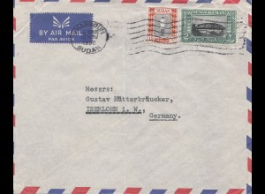 Sudan 1952: air mail Khartoum to Iserlohn