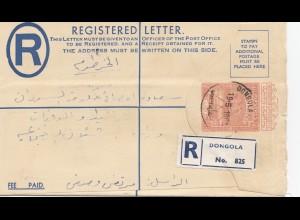 Sudan 1958: registered Dongola to Khartoum