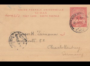 Sudan 1913: post card Khartoum to Charlottenburg