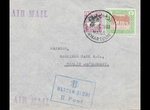 Sudan: 1960: air mail Khartoum to Berlin