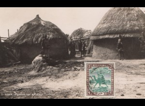 Sudan: post card Sudanese Hut white Nile