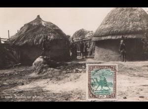 Sudan: post card Sudanese Hut white Nile