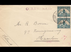 South Africa 1958: East London - ocean mail - to Haarlem/Holland