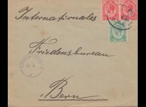South Africa 1916: to internationales Friedensbüro Bern/Switzerland - censor