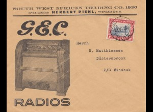 South Africa 1938: Radios Windhoek to Düsternbrock/Windhuk