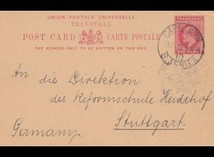 South Africa 1913: Kaiserliches Konsulat Kapstadt to Schule Heidehof/Stuttgart