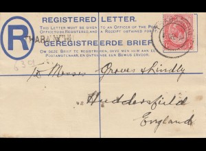 South Africa 1918: registered Thabnchu to England