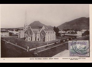 South Africa post card Graaf Reinet Dutched Reformed Church