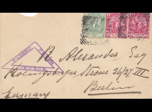South Africa 1901: letter Somerset to Berlin, censor