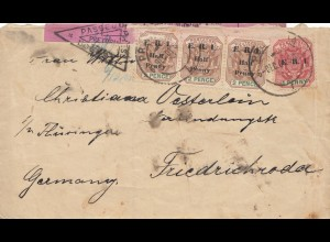 South Africa 1911: letter Pretoria to Friedrichsroda, censor