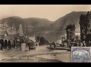 South Africa 1931: post card Caledon Street, Graaff Reinet to Offenbach