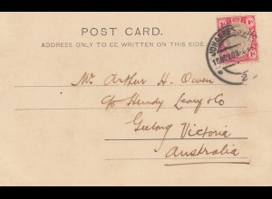 South Africa 1903: post card Johannesburg Doornfontein to Geelong/Victoria