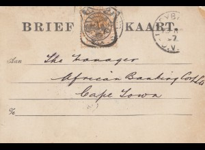South Africa 1897: Ladybrand to Cape Town
