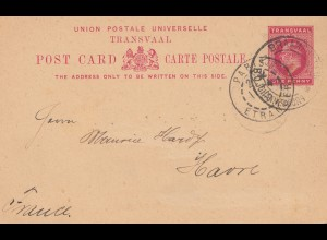 South Africa 1903: Johannesburg post card to Le Havre