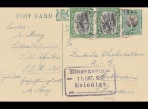 South Africa 1933: Lüderitzbucht to Hellerau/Dresden