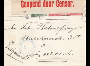 South Africa 1915: Johannesburg to Zürich, censor
