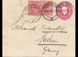 South Africa 1908 Johannesburg to Sachsen, Niederlausitz