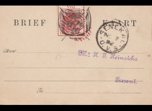 South Africa 1892: Senekal - post card