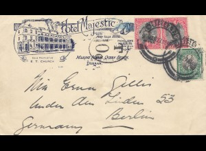 South Africa: 1927: Durban Hotel Majestic to Berlin, Tax