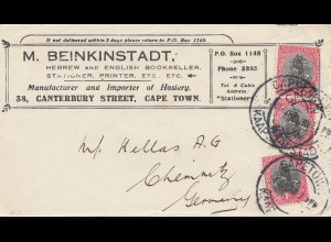 South Africa: Cape Town to Chemnitz, Philadelphia World Exhibition 1926 Gold