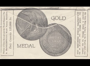 South Africa 1931: Cape Town to Chenitz - Gold Medal 1926-Philadelphia