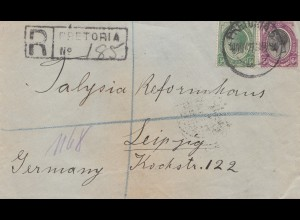 South Africa 1921: Pretoria registered to Leipzig