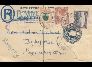 South Africa 1920: registered Benoni to Budapest