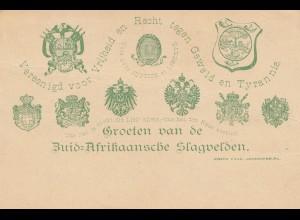 South Africa post card unused Zuid-Afrikaansche Slagvelden, unused