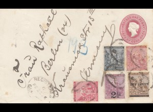 South Africa 1895: registered Cape Town to Berlin