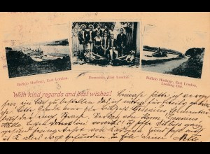 South Africa 1900: post card from Hope Town East London to Cottbus