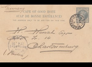 South Africa 1898: post card Beaconsfield to Charlottenburg